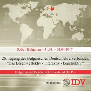 26. Tagung des Bulgarischen Deutschlehrerverbandes @ Neue Bulgarische Universität | Sofia | Sofia City Province | Bulgarien
