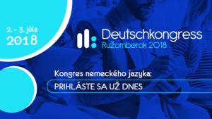 Deutschkongress 2018 in der Slowakei @ Ružomberok   Ružomberok   Žilinský kraj   Slowakei