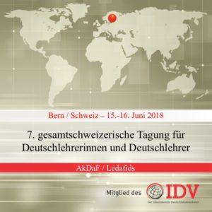 7. gesamtschweizerische Tagung für Deutschlehrerinnen und Deutschlehrer @ Universität Bern   Bern   Bern   Schweiz
